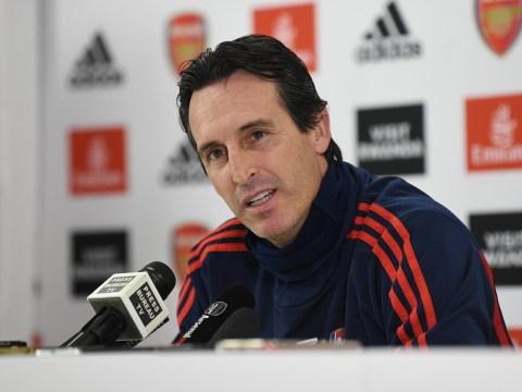 Unai Emery explains reasons why Arsenal have struggled this season