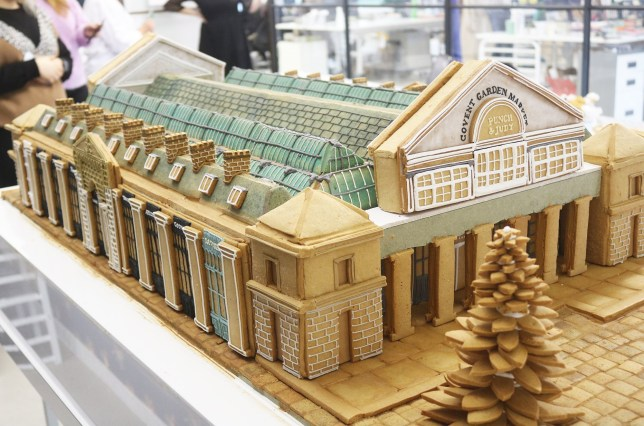 There's a giant gingerbread house popping up in Covent Garden tomorrow