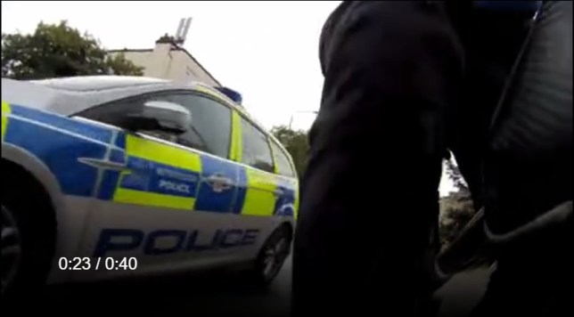 Cyclist films police nearly hitting him