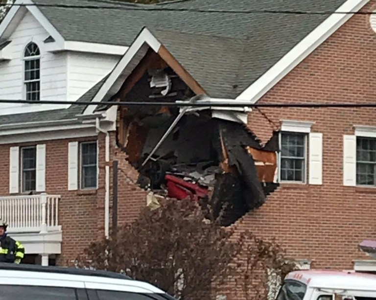 TOMS RIVER, N.J. ??? Two people were killed when the sports car they were in went off the road and crashed into a building in New Jersey early Sunday morning, police said. According to authorities, the Porsche went off the road around 6:30 a.m. and went airborne, sending it crashing into the second story of a commercial building on Hooper Avenue in Toms River, across the street from Hooper Avenue Elementary School. Police confirmed the driver and a passenger in the car were both dead as a result of the crash. The commercial building was vacant at the time of the crash, authorities said. The deadly crash is under investigation and the identities of the deceased are not known at this time.