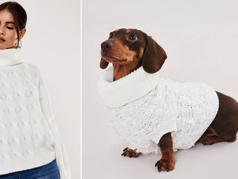 Missguided is selling matching roll-neck jumpers for you and your dog