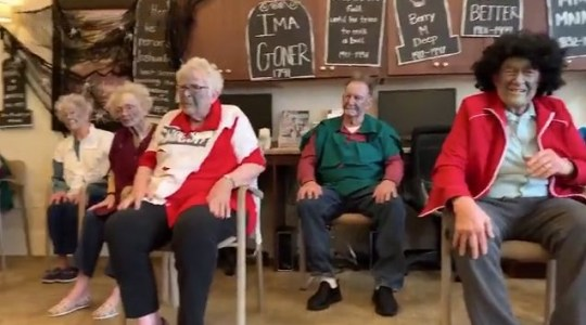 Annual 'Thriller' performance at old people's home is spellbinding