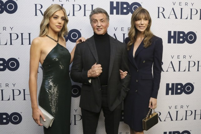 """BEVERLY HILLS, CALIFORNIA - NOVEMBER 11: (L-R) Sistine Stallone, Sylvester Stallone and Jennifer Flavin attend the Premiere Of HBO Documentary Film """"Very Ralph"""" at The Paley Center for Media on November 11, 2019 in Beverly Hills, California. (Photo by Gabriel Olsen/FilmMagic)"""