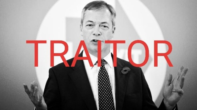 Nigel Farage branded a 'traitor' by own Brexit Party members