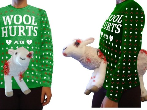 PETA has launched a terrifying Christmas jumper featuring a mutilated sheep