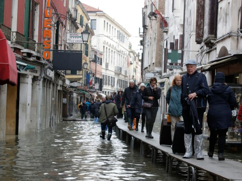 Two dead in Venice floods that have left 85 per cent of the city underwater