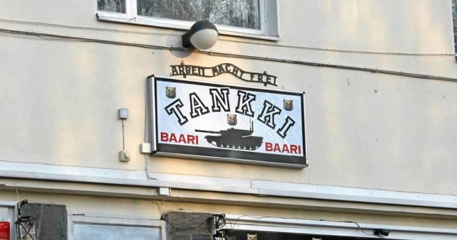 Auschwitz Memorial call out Finnish pub with 'Arbeit Macht Frei' sign above the door Picture: @AuschwitzMuseum METROGRAB