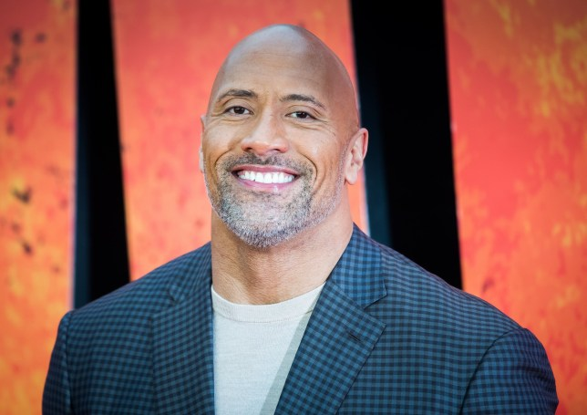 Dwayne Johnson at the rampage premiere in 2018