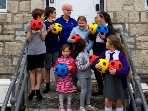 Kids given foam footballs because normal ones cause too much damage