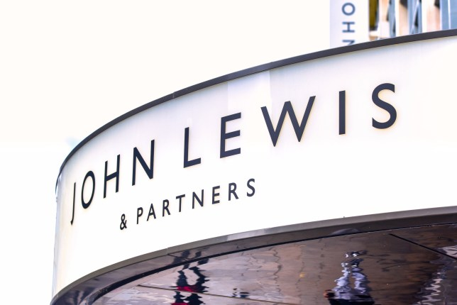 OXFORD STREET, LONDON, UNITED KINGDOM - 2019/09/12: John Lewis and Partners store seen at Oxford Street in London. John Lewis has posted losses of ??25.9m for the first half of the year, blaming the shifting retail landscape and ongoing concerns over Brexit. (Photo by Dave Rushen/SOPA Images/LightRocket via Getty Images)