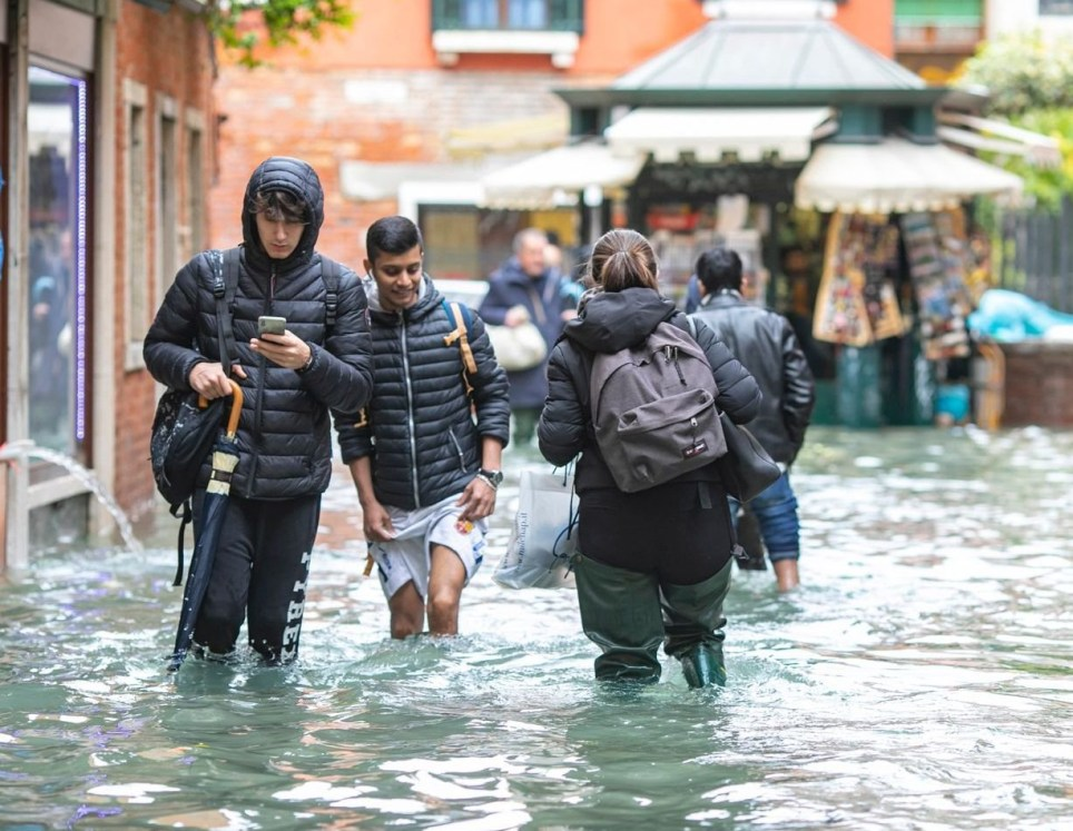 Mandatory Credit: Photo by Sergio Agazzi/REX (10477446ak) Flooding Flooding in Venice, Italy - 17 Nov 2019