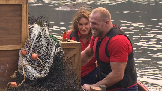 I'm A Celebrity's Caitlyn Jenner and James Haskell take on Pontoon of Doom
