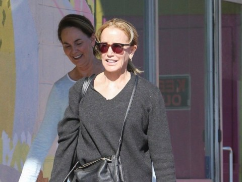Felicity Huffman brings cupcakes as she arrives for her community service at The Teen Project