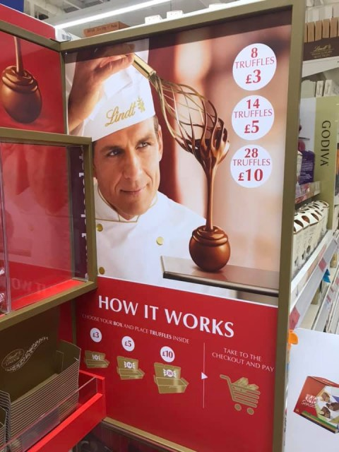 Sainsburys Is Getting Lindt Lindor Pick And Mix Stands