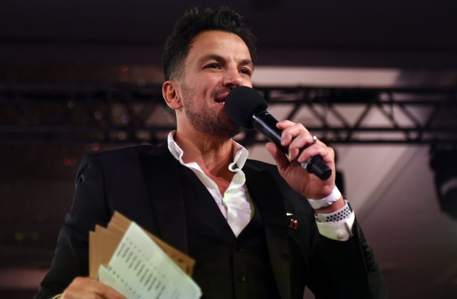Peter Andre during the Nordoff Robbins Boxing Dinner
