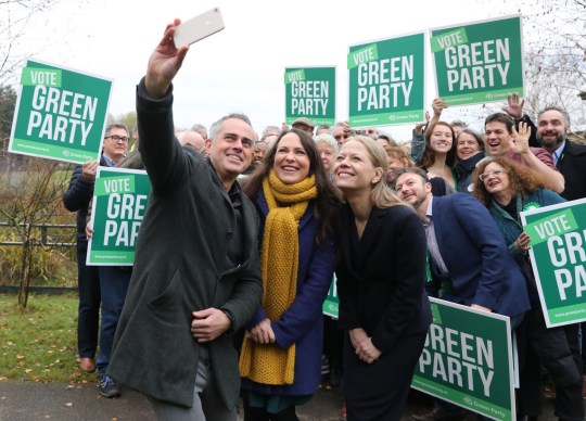 Greens launch manifesto with £100,000,000,000 to fight climate change