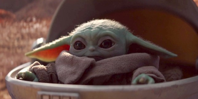 Baby Yoda in The Mandalorian (Picture: Disney+)