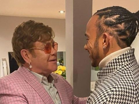 Elton John embraces Lewis Hamilton after sharing iconic backstage reunion with Kiki Dee