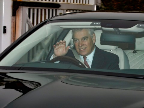 Prince Andrew looks incredibly happy despite being sacked by the Queen