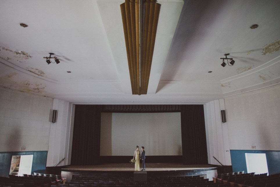 Wedding photos on an abandoned island