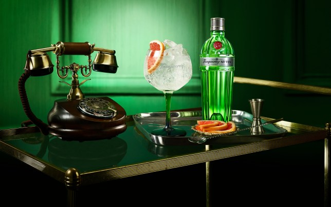 Guests are invited to The Secret Bar through a ringing telephone at the Tanqueray Townhouse