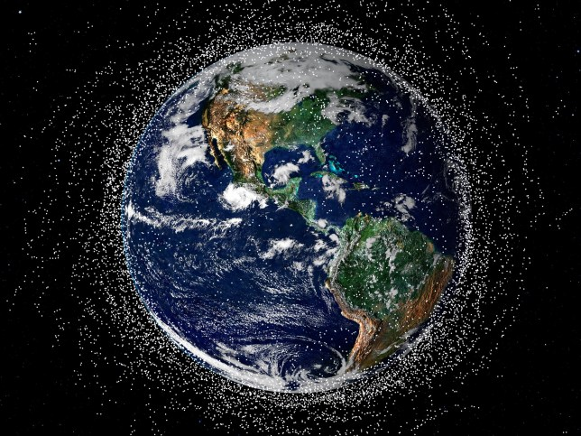 Space junk is an increasing problem as more dead satellites are in orbit around Earth (Getty Images)