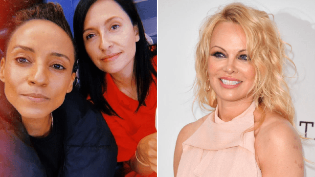 Adele Roberts, Kate Holderness and Pamela Anderson