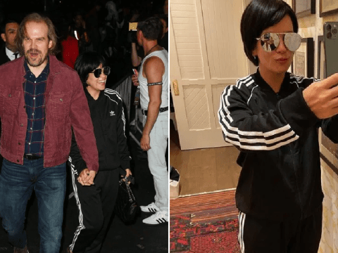 Lily Allen and David Harbour are a convincing Kris Jenner and Jack Torrance at  Halloween party