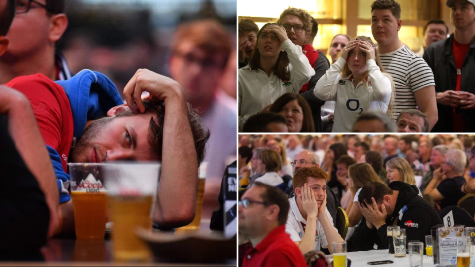 Comp of England Rugby fans disappointed at 2019 Rugby World Cup defeat