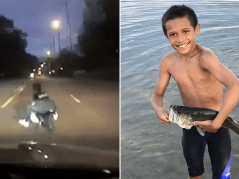Horrific moment cop hit and killed 11-year-old boy on minibike