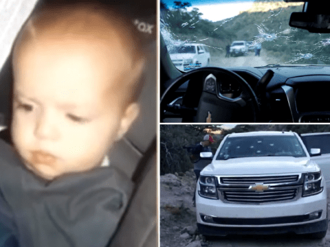 Moment baby girl was found in bullet-riddled SUV after drug lords killed her family