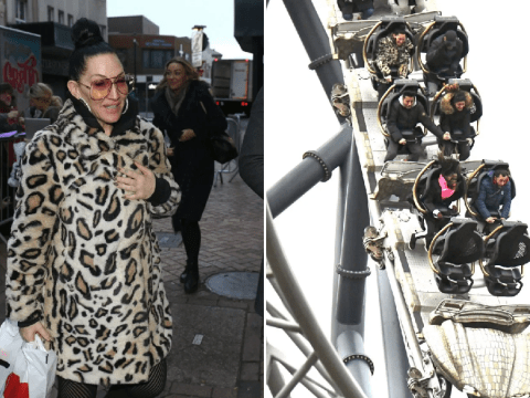 Strictly's Michelle Visage and stars look terrified on Blackpool rollercoaster