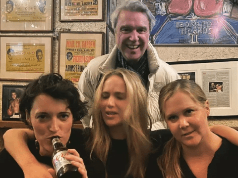 Amy Schumer is pure squad goals as she hangs with Phoebe Waller Bridge, J-Law and David Byrne