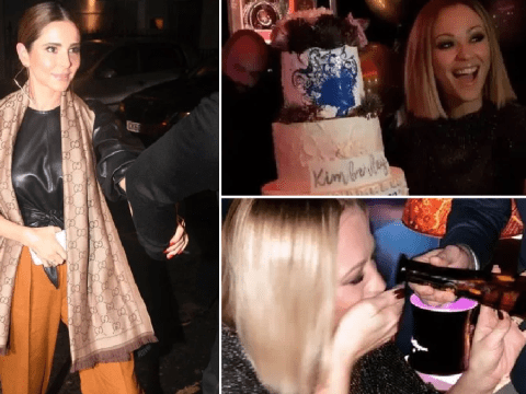 Cheryl and Nicola Roberts celebrate Kimberley Walsh's birthday as Nadine Coyle roughs it in I'm A Celebrity jungle