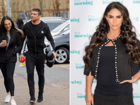 Alex Reid is all smiles with fiancée as ex Katie Price ordered to pay him £150,000 amid revenge porn claims