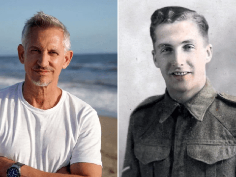 Gary Lineker chokes up with tears as he reads grandfather's war diary revealing horrors of World War II