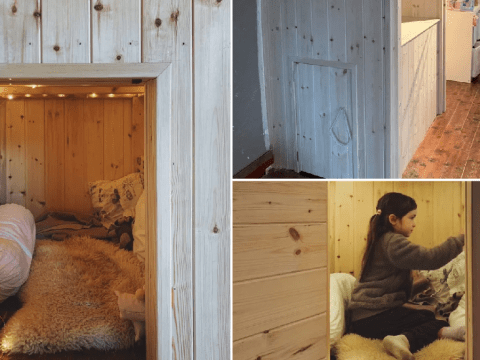 Mum creates a magical hideaway for her daughter in the dead space in her loft