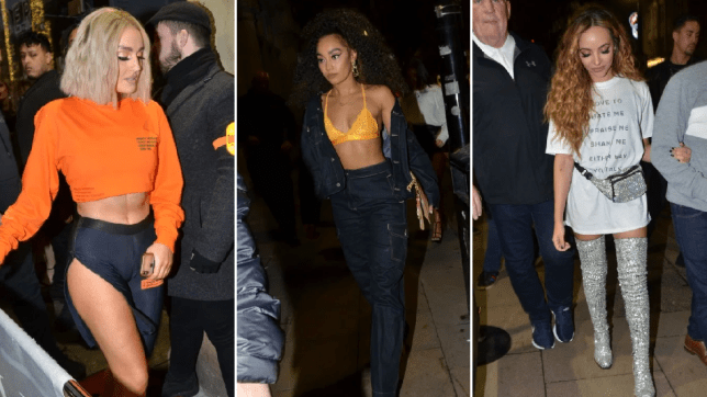Little Mix slay casual chic for clubbing night out as Jesy Nelson opts for cosy night in bed with pooch