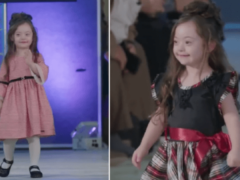 Girl with Down's syndrome can't stop smiling as she steals show on catwalk
