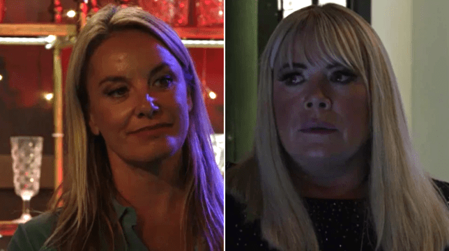 Mel and Sharon at war in EastEnders