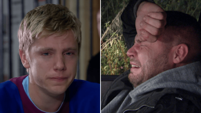 Robert Sugden and Aaron Dingle in Emmerdale