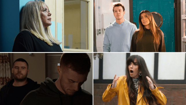 Sharon Mitchell in EastEnders, Ryan and Michelle Connor in Coronation Street, Aaron Dingle and Luke Posner in Emmerdale, and Mercedes McQueen in Hollyoaks
