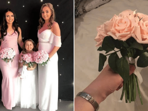 Bride saves fortune on wedding with £30 Missguided dress and DIY Home Bargains bouquets