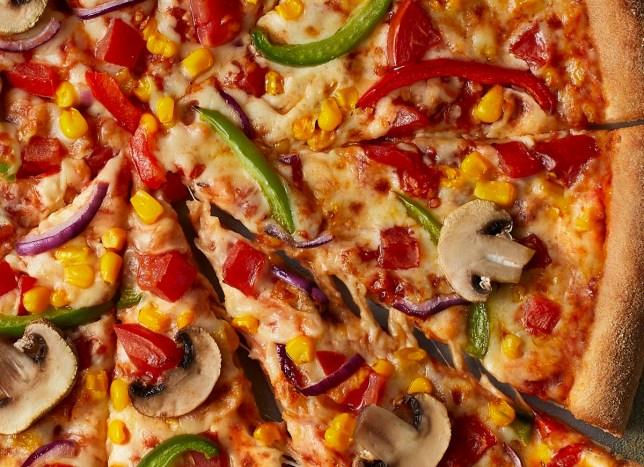 veggie pizza from dominos
