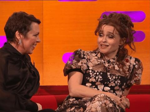 Helena Bonham Carter throws shade at The Crown co-star Olivia Colman