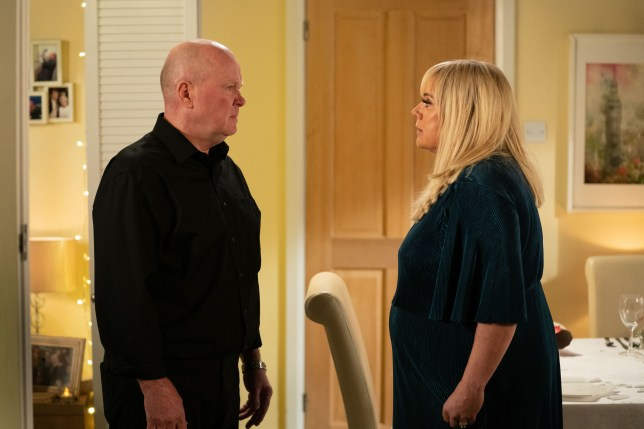 Phil and Sharon Mitchell in EastEnders