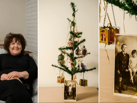 'Britain's oldest artificial Christmas tree' decorated for the 99th time