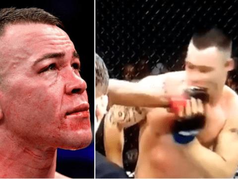 Watch: Sickening moment Kamaru Usman breaks Colby Covington's jaw in UFC war