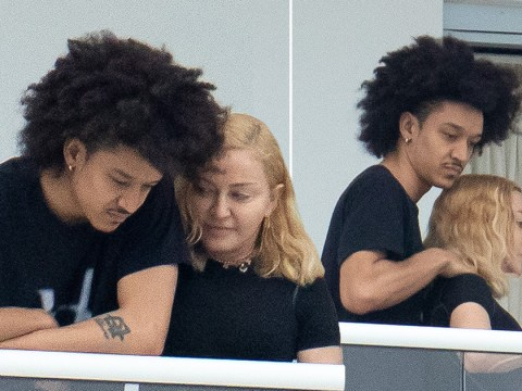 Madonna gets intimate massage from 25-year-old rumoured lover on Miami balcony
