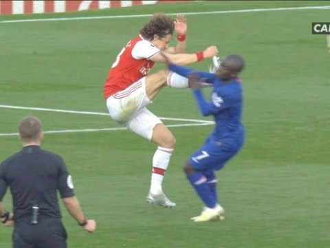 Gary Neville blasts David Luiz for his tackle on N'Golo Kante in Arsenal vs Chelsea